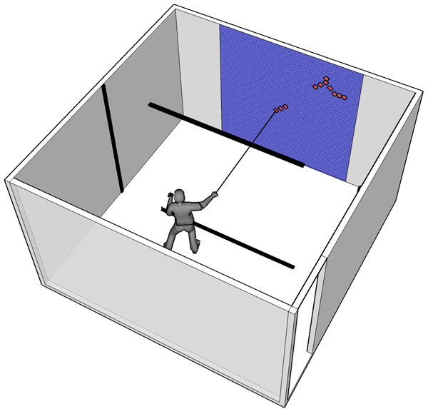 Simulation of the interface without the laser beams