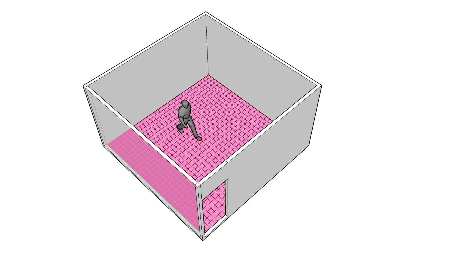 Possible use of the interface on the floor of a space