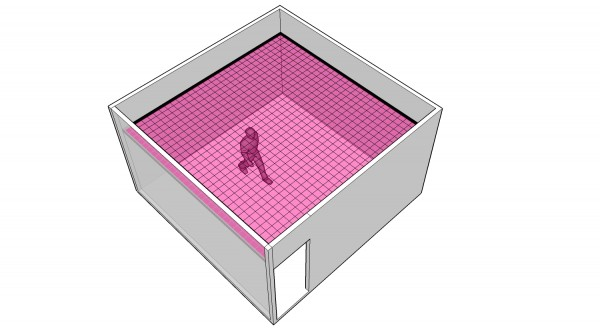 Possible use of the interface on the ceiling of a space